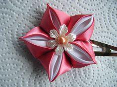 flower kanzashi tutorial