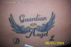 Small Angel Wings Tattoo | Small Angel Wings Tattoo Combinated Whit Heart And Script On