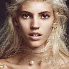 30 Extreme Piercings That Put Single Studs To Shame #refinery29  http://www.refinery29.com/extreme-piercing#slide22  Model Dev Windsor shows off her gold, pearls, and perfection.