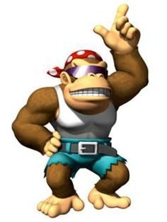 Funky Kong - Donkey Kong; recurring character in the Donkey Kong series. Funky Kong often serves as an ally to the Kong Family, offering services such as transportation and weaponry.