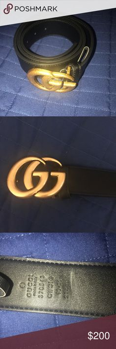 787f153f3e6 Authentic Gucci Double G leather belt. Unisex. Authentic Gucci belt. Used  but in
