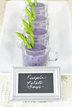 Purple Potato Soup. Isn't this gorgeous?