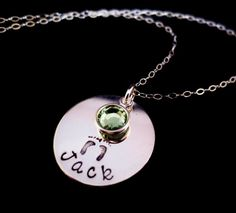 baby footprints personalized necklace