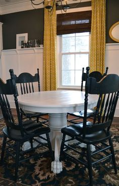 Shabby Redo For You Claw Foot Oak Table Redo Crafts I Can - Claw foot oak dining table