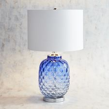 Cobalt Art Glass Table Lamp from Pier 1