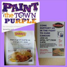 @rflscnoho #Paint the #town #purple #rfl #fundraiser