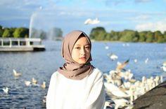 Casual Hijab Outfit, Ootd Hijab, Casual Outfits, Hijab Hipster, Hijab Fashion, Fashion Outfits, Muslim Hijab, Hijab Tutorial, Beautiful Hijab