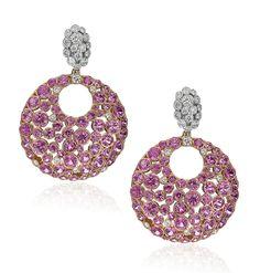 Gumuchian Cloud 9 #pink sapphire earrings