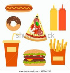 Fast food background concept