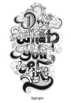 Do What You Like via Morning Type #typography #type #design