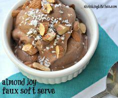 almond joy soft serve