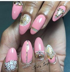 Nails done by Carly @snyrlycar182 I'm so proud of my team! #pinkandgoldnails #nails #nailart #naildesigns #nailartdesigns #nailartist #nailartjunkie #nailartaddict  #beauty #nails4today #notd #nailswag #nailartlove #nailpics #nailtech #birthdaynails #celebritynails #handpaintednailart #stilettos #glitter #art #fashion #nailpics #nailartlove #nailartclub #manicure #toledo #ohio #toledonailtech #toledonails #toledonailartist #detroitnails