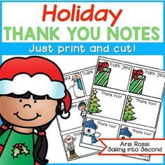 Are you looking for a quick and easy way to thank your students for any holiday gifts? These little note cards or printables are just for you! Simply print and cut! Jot down a sweet message to each student, and you're done! Thank you, and please be kind and leave feedback!