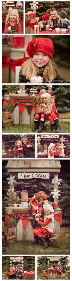 holiday mini session, I adore this!  Another use for the lemonade stand!!