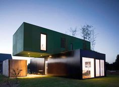 75 Shipping Container Concepts I like the perpendicular stack