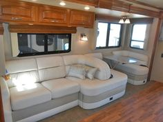 We bet you never would have guessed that this is part of the interior of a Jayco Seneca!