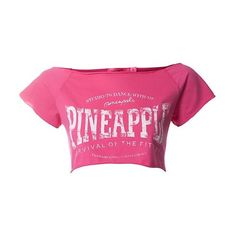 Pineapple Pink Crop Dance T-Shirt ($14) ❤ liked on Polyvore
