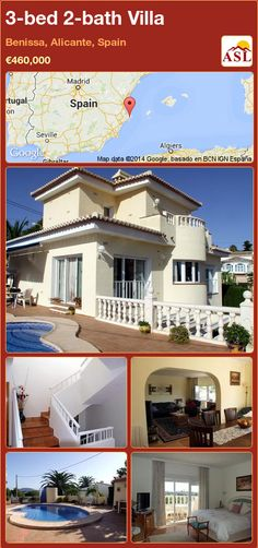 3-bed 2-bath Villa in Benissa, Alicante, Spain ►€460,000 #PropertyForSaleInSpain