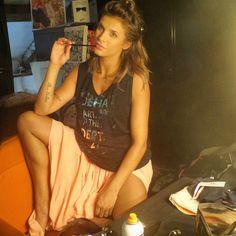 #ElisabettaCanalis Elisabetta Canalis: Shooting my new campaign #Deha #Dehaactive feeling feminine !! Quasi pronta per scattare la mia nuova campagna #Deha #sportswear @settimiobenedusi photographer @pattymakeup_hair @francicasarino #squadravincente
