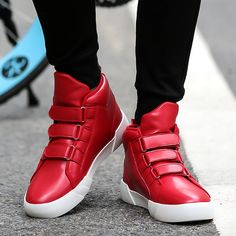 関連画像 Sneaker Outfits, Red Sneakers Outfit, Wedges, Shoes, Fashion, Red Trainers, Moda, Zapatos, Shoes Outlet