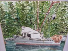 Listed Artist Dot Bardarson Vintage Watercolor Painting   eBay