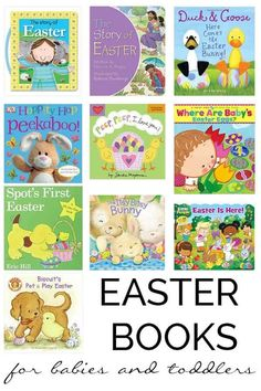Recommended Easter books for babies and toddlers, perfect for reading aloud and sharing together. Also ideal for non-candy Easter Basket gift ideas for the youngest members of your family. Baby Easter Basket, Easter Gift Baskets, Easter Bunny, Basket Gift, Easter Activities, Toddler Activities, Book Activities, Easter Games, Spring Activities