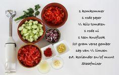 Het allerlekkerste #gazpacho #recept! #vegetarisch #soep