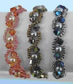 Sidewinder Bracelet Pattern at Sova-Enterprises.com lots of free beading patterns and tutorials are available!
