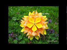 ▶ Origami ♣ Magnet ♣ Kusudama - YouTube