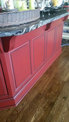 Sherwin-Williams for Your Home Crabby Apple Red with a black glaze