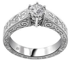 .50 Carat Malia Diamond 14Kt White Gold Engagement Ring