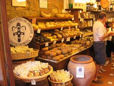 Cheese shop in Assisi, Italy -eb