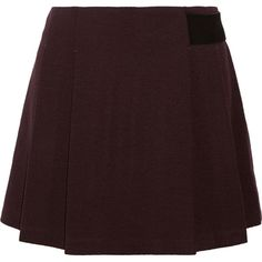 Proenza Schouler Pleated crepe mini skirt ($200) ❤ liked on Polyvore featuring skirts, mini skirts, bottoms, merlot, proenza schouler, pleated miniskirt, red skirt, red pleated skirt and short skirts