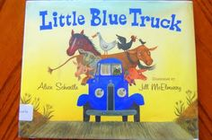 Super cute craft to go with Little Blue Truck (another favorite book in our house)