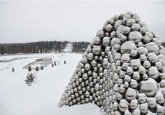 ball-nogues studio: talus dome reflects local landscape - designboom | architecture