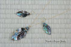 Origami Jewelry  Set of Origami Leaf Earrings & by KumikosOrigami