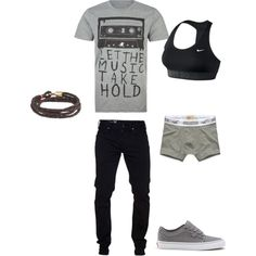 Untitled #6 by gladis-quezada on Polyvore featuring polyvore fashion style NIKE J.Crew Glamour Kills Hollister Co.
