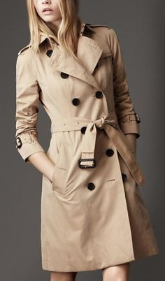 Bucket list: lingerie & trench coat gift.  Valentine's Day   BURBERRY trench coats on www.italianbrandsdistribution.com