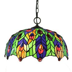16inch European Pastoral Retro Style Pendant Lights Multicolor Lea... ($150) ❤ liked on Polyvore featuring home, lighting, ceiling lights, array0x12437eb8, colorful lights, retro hanging lights, euro lighting, glass shade lamp and retro pendant lights