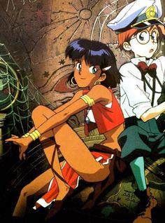ふしぎの海のナディア Fushigi no umi no Nadia Old Anime, Manga Anime, Anime Art, 70s Cartoons, Mickey Mouse Art, Anime Japan, Manga Games, Anime Style, Cartoon Drawings