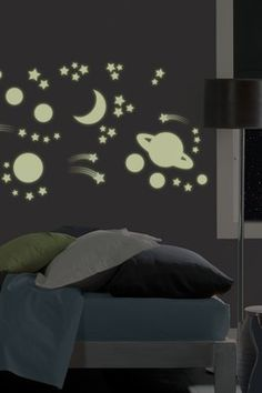Outer Space Glow in the Dark Wall Stickers