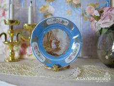 Blue Sevres French Cabinet Dollhouse Plate by ALavenderDilly