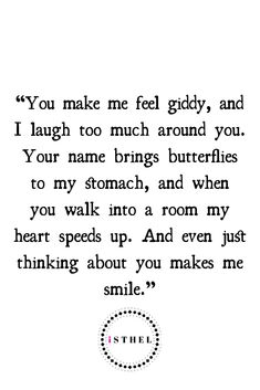 You make me smile : ) Couple Quotes, Quotes For Him, Be Yourself Quotes, Quotes To Live By, Me Quotes, Qoutes, Falling In Love Quotes, True Love Quotes, Love Poems