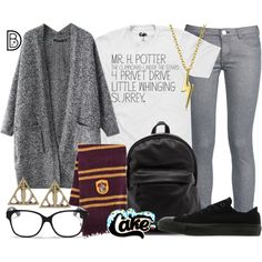 Mr. Harry Potter by leslieakay on Polyvore featuring polyvore, fashion, style, George J. Love, Converse, Bling Jewelry, Christian Dior, clothing and harrypotter