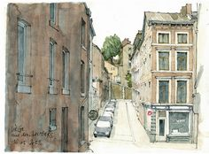 By Gérard Michel. I've been obsessed with architectural sketches lately. His flickr is filled with great sketches he's done over the years.