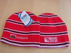 This Wales Rugby World Cup 2015 beanie hat is part of the official RWC 2015 Country team range of Rugby beanies. An acrylic knitted beanie ideal for Wales Rugby team supporter. Beanies, Beanie Hats, 2015 Rugby World Cup, Wales Rugby, Knit Beanie, Knit Hats, Beanie, Knitted Beanies