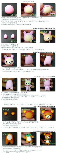 "South Korea ""This clay"" hand lesson tutorial rilakkuma"