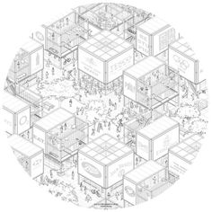 35 Ideas For Drawing Architecture Isometric Paper Architecture, Architecture Graphics, Architecture Drawings, Architecture Portfolio, School Architecture, Architecture Design, Architecture Visualization, Axonometric Drawing, Isometric Drawing