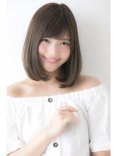 【Euphoria】グレージュカラーが可愛い小顔ロブ☆【山村】 Kawaii Faces, Cute Japanese, Girl Fashion, Womens Fashion, Hair Beauty, Portrait, Beautiful, Style, Whoville Hair