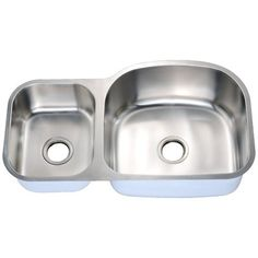 Kohler Staccato 22 In X 33 In Double Basin Stainless Steel
